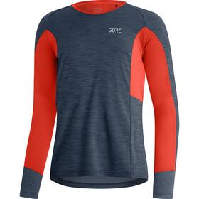 GORE WEAR Energetic LS Shirt Men, blauw/rood
